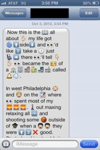 emoticons read a guy from his text messages
