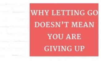 letting go and giving up small pic